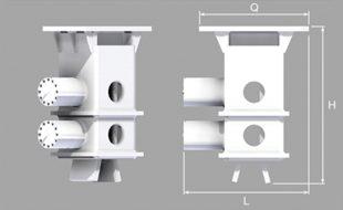 Двухзажимный гидравличский захват модели ACN 40