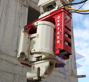 Экскаваторные вибропогружатели с боковым захватом серии OVR-SG