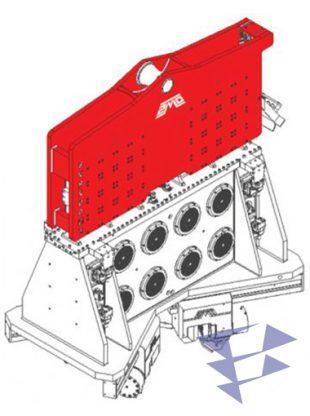 Вибропогружатель нормальной частоты с креплением на кран модели SVR 200NF