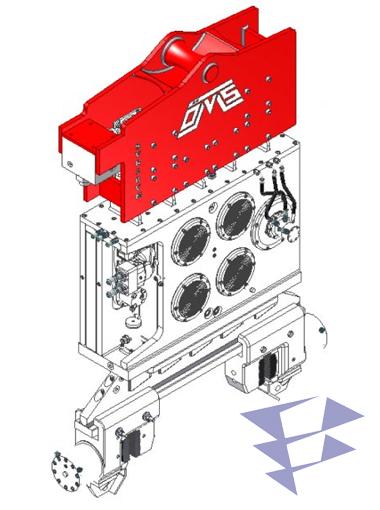 Иллюстрация кранового вибропогружателя с переменным моментом модели SVR 18 VM