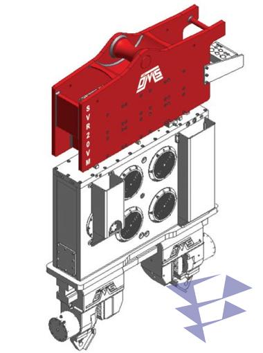Иллюстрация кранового вибропогружателя с переменным моментом модели SVR 20 VM