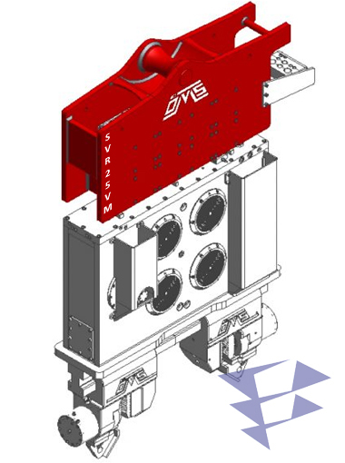 Иллюстрация к крановому вибропогружателю с переменным моментом SVR 25 VM