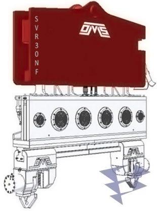 Иллюстрация к вибропогружателю нормальной частоты с установкой на кран SVR 30 NF