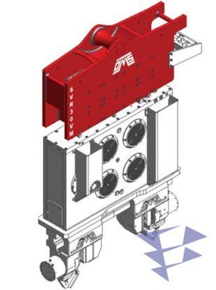 Иллюстрация к крановому вибропогружателю с переменным моментом SVR 30 VM