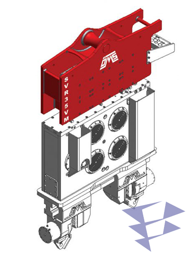 Иллюстрация к крановому вибропогружателю с переменным моментом SVR 35 VM
