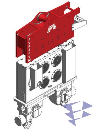 Иллюстрация кранового вибропогружателя с переменным моментом модели SVR 50 VM