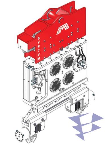 Иллюстрация к крановому вибропогружателю с переменным моментом SVR 7 VM