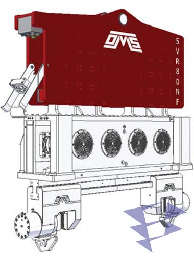 Иллюстрация к крановому вибропогружателю нормальной частоты SVR 80 NF