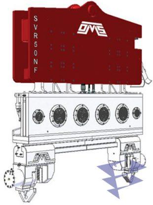 Иллюстрация к крановому вибропогружателю нормальной частоты SVR 50 NF