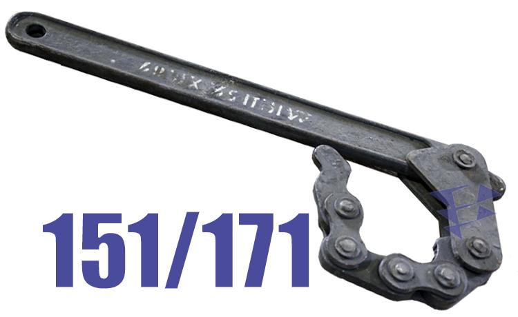 Иллюстрация к буровому ключу типа КШ 151/171 мм