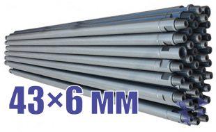 Иллюстрация к трубе стальной бурильной универсальной 43х6 мм