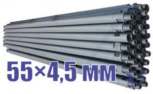 Иллюстрация к трубе стальной бурильной универсальной 55х4,5 мм