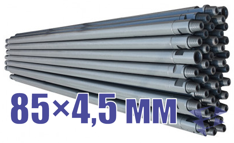 Иллюстрация к трубе стальной бурильной универсальной 85х4,5 мм