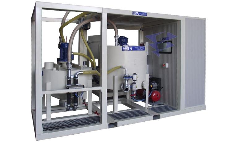Иллюстрация к смесительно-цементировочному блоку с автоматическим управлением