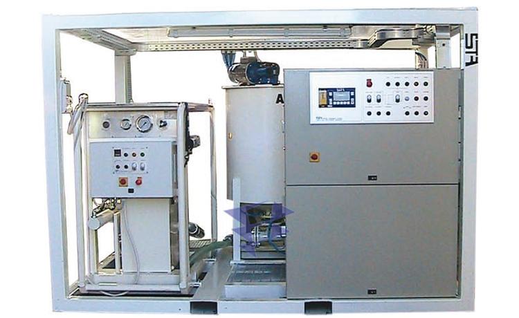 Иллюстрация к смесительно цементационному комплексу STA 5M3 T20 с автоматическим управлением