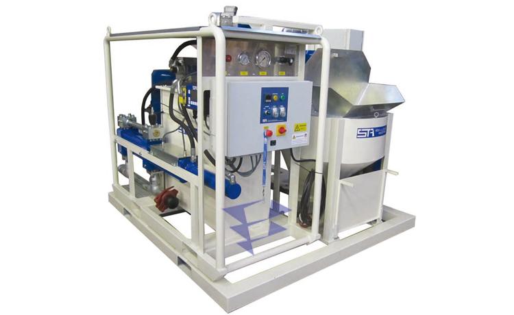 Иллюстрация к смесительно цементационному комплексу STA 5M3 T20 с ручным управлением