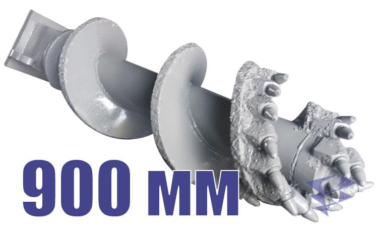 Скальный шнек для свайных работ, 900 мм