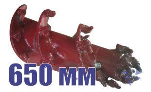Скальный шнек для свайных работ, 650 мм